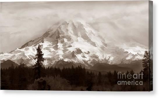 Mount Rainer Canvas Print