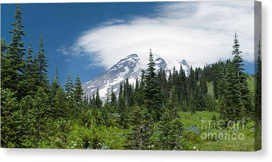 Mount Rainier Forest Canvas Print