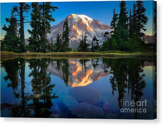 Mount Rainier Canvas Print - Mount Rainier From Tatoosh Range by Inge Johnsson