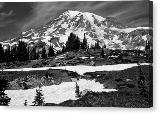 Mount Rainier From The Paradise Visitor Center Canvas Print