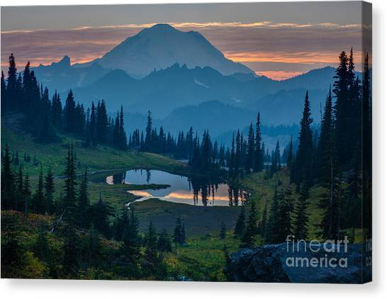 Washington Nationals Canvas Print - Mount Rainier Layers by Mike Reid