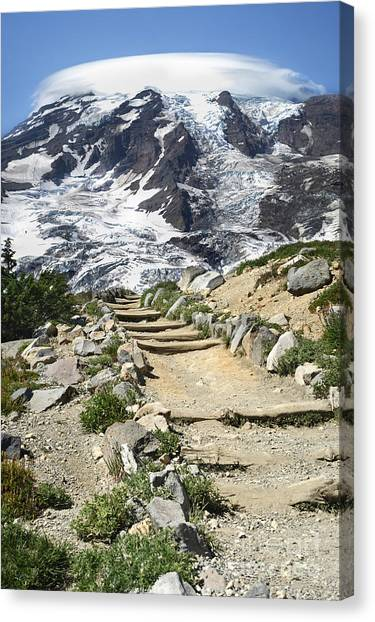Mount Rainier Trail Canvas Print