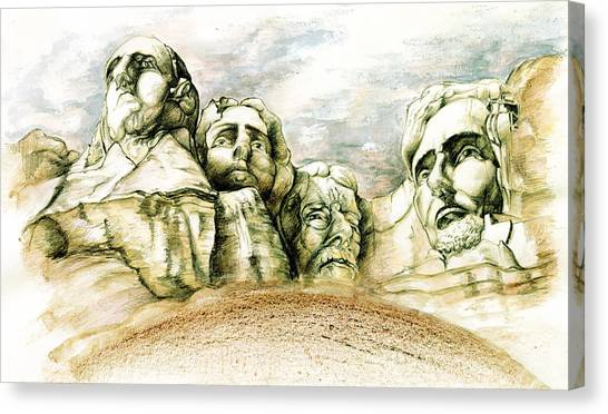 Landscape Canvas Print - Mount Rushmore Monument - Fine Art by Art America Gallery Peter Potter