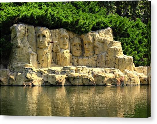 President Jefferson Canvas Print - Mount Rushmore by Ricky Barnard