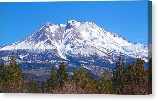Mount Shasta California February 2013 Canvas Print
