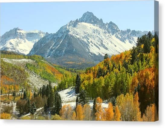 Mt. Massive Canvas Print - Mount Sneffels In Ridgway Colorado by Brett Pfister