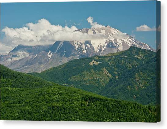 Mount St. Helens Canvas Print - Mount St Helens, Afternoon, Summer by Michel Hersen