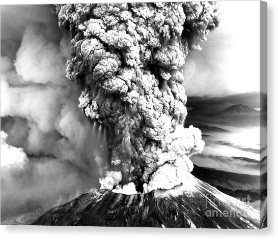 Mount St. Helens Canvas Print - Mount St Helens Eruption by Usgs
