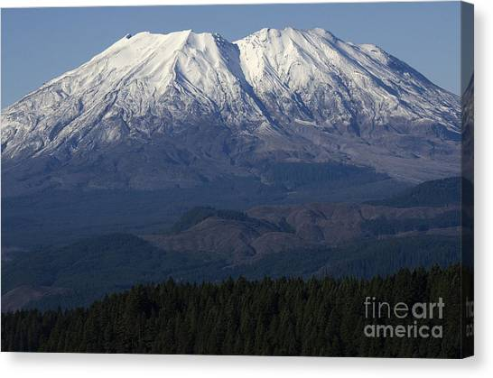 Mount St. Helens Canvas Print - Mount St Helens Washington by Bob Christopher