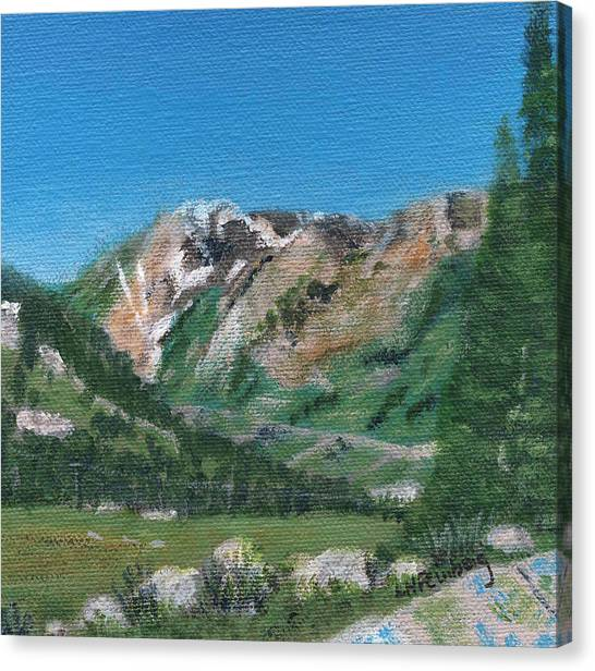 Canvas Print featuring the painting Mount Superior by Linda Feinberg