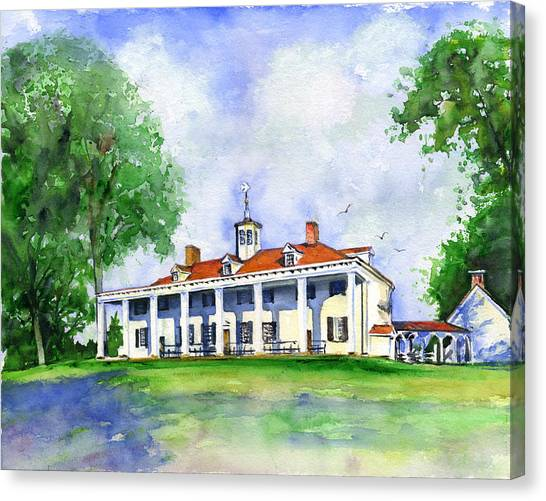 Mount Vernon Front Canvas Print