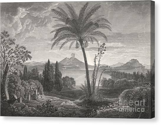 Mount Vesuvius Canvas Print - Mount Vesuvius 1798 by Padre Art