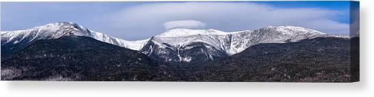 Mount Washington And The Ravines Winter Pano Canvas Print