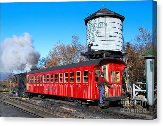 Mount Washington Cog Railway Car 6 Canvas Print