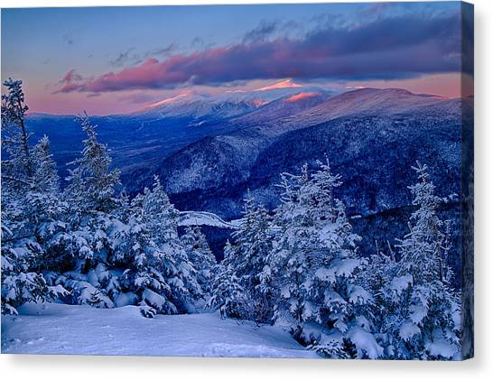 Mount Washington In The Evening Light From Mt Avalon Canvas Print