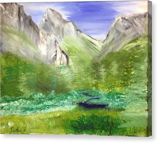 Mountain Day Canvas Print