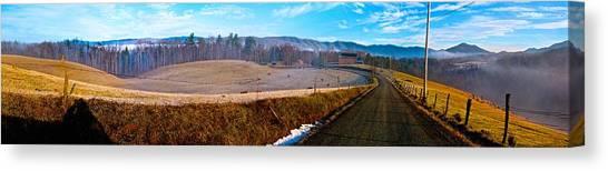 Mountain Farm Panorama Version 2 Canvas Print