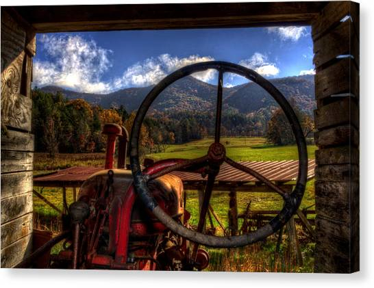 Mountain Farm View Canvas Print