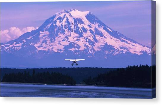 Seaplanes Canvas Print - Mountain Flight by Benjamin Yeager