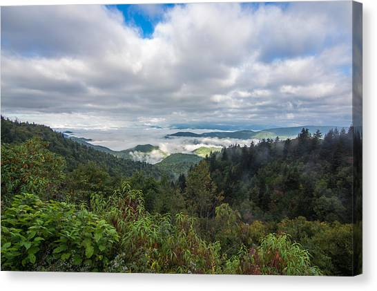 Mountain Fog Canvas Print