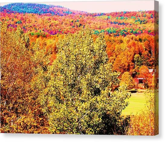 Mountain Foliage Series 017 Canvas Print