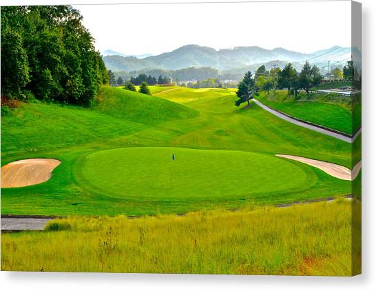 Arnold Palmer Canvas Print - Mountain Golf by Frozen in Time Fine Art Photography