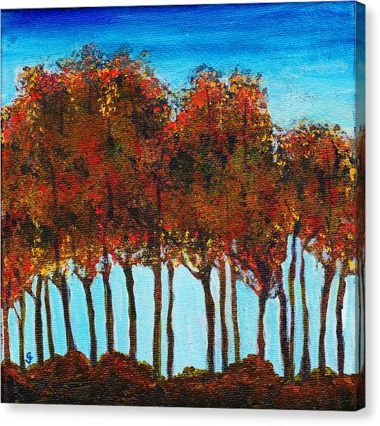 Canvas Print - Mountain Haven Trees by Cindy Johnston