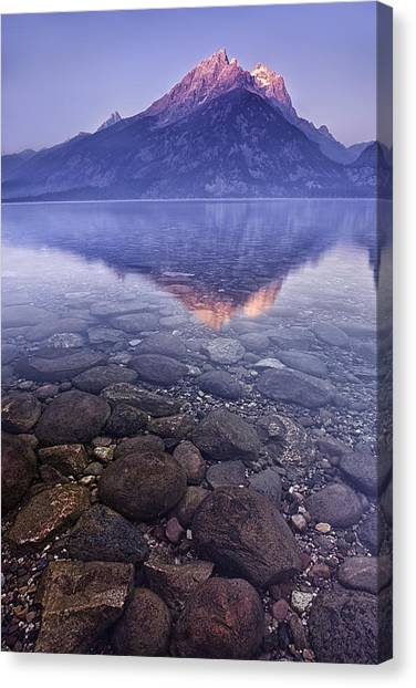 Mountains Canvas Print - Mountain Lake by Andrew Soundarajan