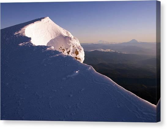 Ice Climbing Canvas Print - Mountain Landscape by Richard Hallman