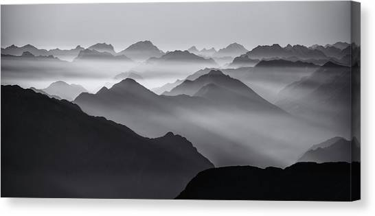 Andes Mountains Canvas Print - Mountain Layers by Ales Krivec