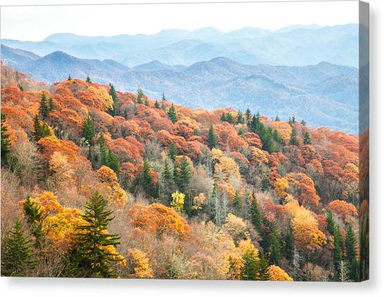 Mountain Layers Canvas Print by Scott Moore