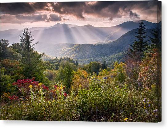 Blue Ridge Parkway Canvas Print - Mountain Majesty by Rob Travis