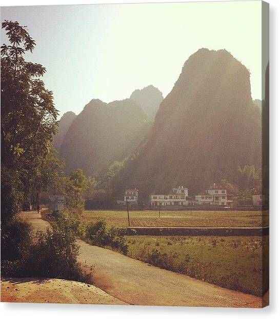 Karsts Canvas Print - #mountain #montagne #karst #chine by Jonn Velasquez