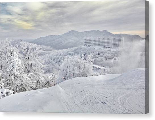 Mountain Morning After The Storm Canvas Print