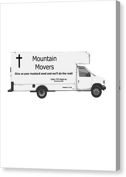 Mountain Movers Canvas Print by Stephanie Grooms