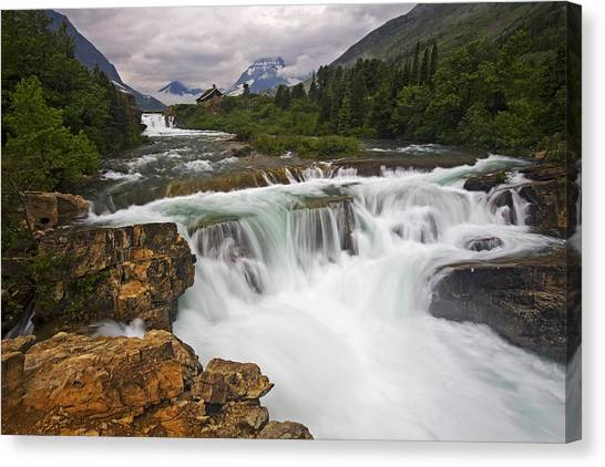 Beauty Mark Canvas Print - Mountain Paradise by Mark Kiver