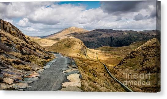 Llyn Gwynant Canvas Print - Mountain Path by Adrian Evans