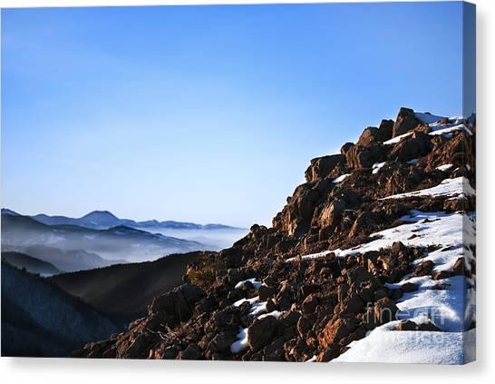 Ice Climbing Canvas Print - Mountain Peak by Jelena Jovanovic