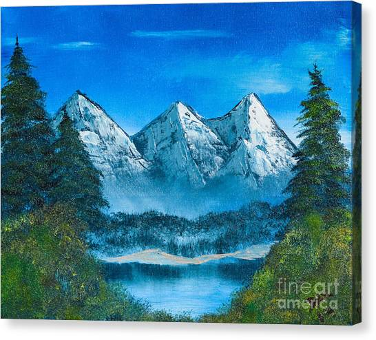Mountain Pond Canvas Print by Dave Atkins