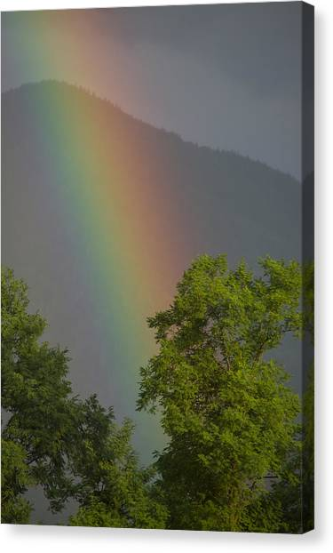 Mountain Rainbow Canvas Print
