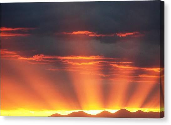 Mountain Rays Canvas Print