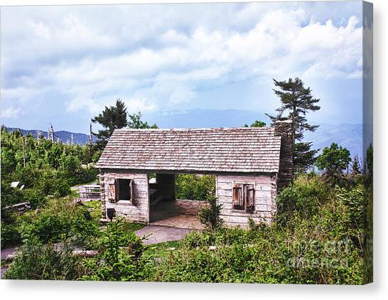 Mountain Rest Stop Canvas Print