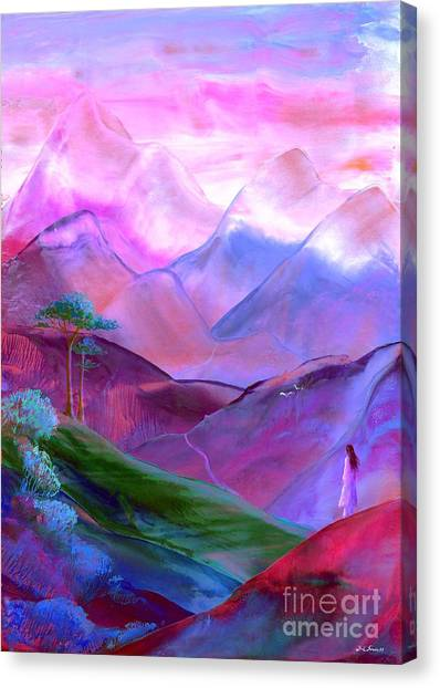 Heather Canvas Print - Mountain Reverence by Jane Small