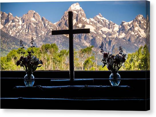 Teton Canvas Print - Mountain Spirit  by Kristopher Schoenleber