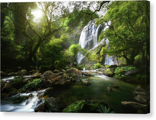 Flowing Canvas Print - Mountain Stream by Patrick Foto