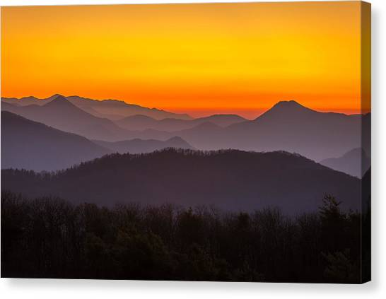 Mountain Sunset In Tennessee Canvas Print