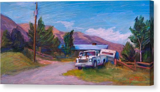 Driveway Canvas Print - Mountain Warrior by Athena Mantle