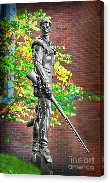Mountaineer Statue Canvas Print