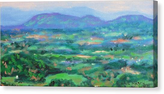 Mountains And Valleys- Summertime Along The Blue Ridge Parkway Canvas Print