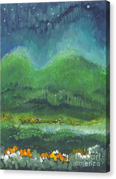 Mountains At Night Canvas Print